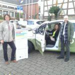 Car-Sharing in Kraichtal-Münzesheim mit Matthias Gastel MdB am 27. Oktober 2016.