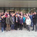 Besucher_innengruppe aus dem Landkreis Karlsruhe am 10. November 2016 vor dem Landtag.