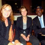 Mit Gisela Splett (Staatssekretärin im Finanzministerium Ba-Wü) und dem Präsidenten der Burundische Diaspora in Deutschland (B.D.D. e.V) Nkurunziza Ildephonse am 11.11.2017 in Karlsruhe.