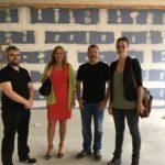 Zu Besucht bei der Lusshardt-Gemeinschaftsschule in Forst, am 21. Juli 2017. Auf dem Bild v.l.n.r: Stephan Walter, Andrea Schwarz MdL, Marc Kolb, Vanessa Graser