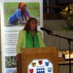 Bei der Eröffnung der Wanderausstellung Amahoro Burundi der Stiftung Entwicklungszusammenarbeit Baden-Württemberg (SEZ) im Rathaus in Bretten am 13. Dezember 2017.