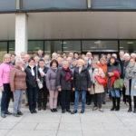 Die Besuchergruppe der ersten Landtagsfahrt aus dem Wahlkreis 2018: Sulzfelder Landfrauen, mit teils männlicher Begleitung, und Frauen des Zonta Club Bruchsal.