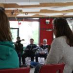 Im Rahmen der EU-Wochen zum EU-Projekttag an der Gemeinschaftsschule Bretten, um mit den Schülerinnen und Schülern der achten Klassen über die EU zu sprechen.