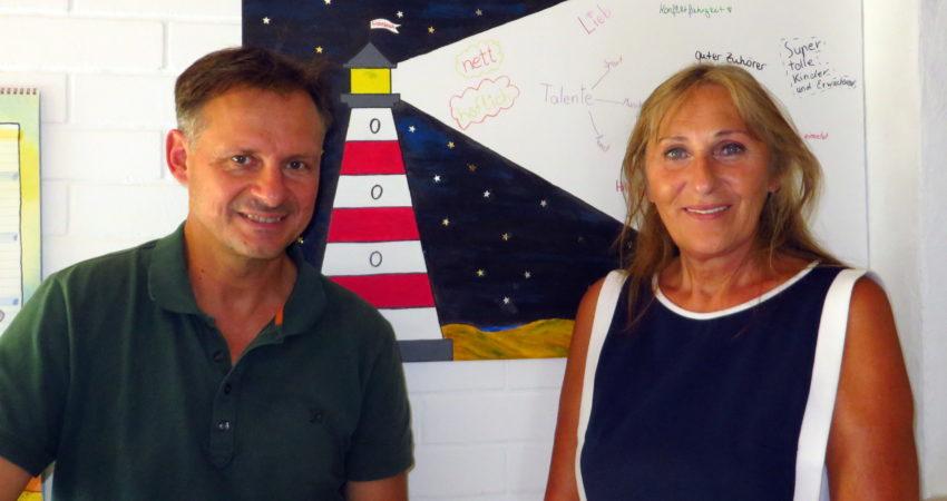 Jochen Röckle, Geschäftsführer der Lichtblick gGmbH und Andrea Schwarz, Landtagsabgeordnete für den Wahlkreis Bretten.