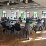 Im Austausch: grüne kommunale Mandatsträgerinnen und -träger mit Andreas Schwarz MdL, Fraktionsvorsitzender der grünen Fraktion im Landtag von Baden-Württemberg.
